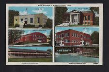 Missouri Valley Iowa Ia c1940 6 Pix Linen, Po, Gym, Fair, Libr, City Hall, Pool