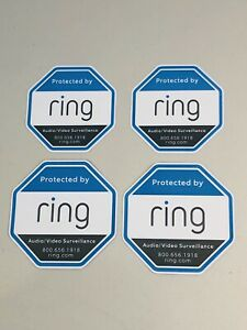 Lot of 4 Genuine Ring Alarm Sticker Decals for Ring Doorbell Security Camera
