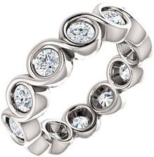 Band 10 x 0.30 ct E-F Vvs Gia 3.00 carat Round Diamond Eternity Ring 18k Gold