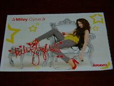 Miley Cyrus & Jackson Rathbone - Bravo Autogrammkarte ca . 7 cm x 10 cm