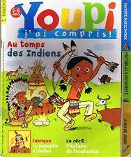 Revue YOUPI 249 indien Amérique Coquelicot magazine documentaire enfant 5 / 8 an