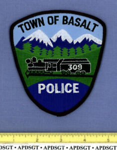 BASALT COLORADO Sheriff Police Patch OLD STEAM RAILROAD TRAIN ROCKY MOUNTAINS