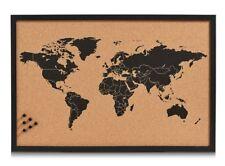 "PINNWAND ""World"" aus Kork 60x40 WELTKARTE MEMO PIN BOARD NOTIZ SCHREIB TAFEL"