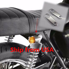 Motorbike Rear Turn Signal Relocater Holder Shock Brackets Bobber Cafe Racer CB