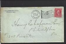 VICKSBURG, MISSISSIPPI COVER,1910, DR. BIRCHETT, CORNER CARD, WARREN CO /OP.