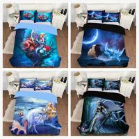 3D Sea Mermaid Duvet Cover Bedding Set Angel Quilt/Comforter Cover Pillowcase