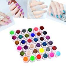 36 Polvere Gel UV Colorati Coprenti Ricostruzione Unghie Nail Art Manicure