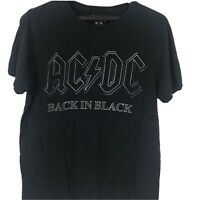 AC/DC Back In Black Logo T Shirt Mens Licensed Rock N Roll Music Band Size M