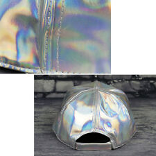 Holographic Leather Laser Cap Silver Hat Wide Brim Clothing Accessories Baseball