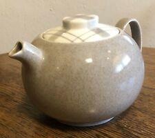 W.S. George China GRAY PLAID Tea Pot Mid Century Modern 1954 Full Excellent