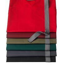 denny's Espalda Cruzada Delantal Completo Con Gris corbatas, presión Off Your