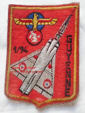 Patch Armée de l'Air ancien feutrine ESCADRON 1/94 GUYENNE MIRAGE ORIGINAL 1976