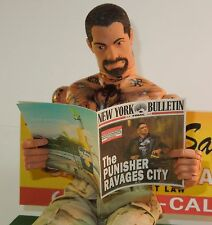 1/6 Scale Custom Newspaper New York Bulletin #6 Punisher Ravages City