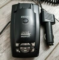 ESCORT 9500ix PASSPORT RADAR DETECTOR w/ Power Adapter *READ*