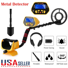 Deep Ground Metal Detector Gold Finder Lcd Display w/ Waterproof Search Coil Usa