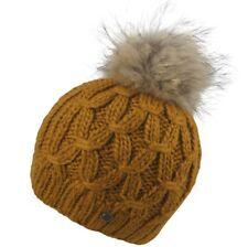 Seeberger Damen Wollmix Bommelmütze Echtpelz-Pompon Zopfmuster Wollmütze Mütze