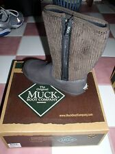 NIB The Original Muck Boot Company Southfork Brown Corduroy Youth Size 3 Boots