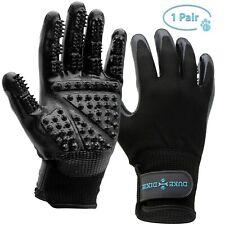 Pet Grooming Gloves Pair Dog Brush Shedding Hair Remover Massage SIZE Large