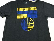 NBA Golden State Warriors Adidas Triblind S/S Tee Black Heathered Men's Xlarge