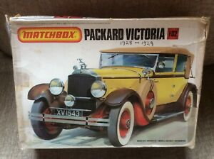 PACKARD VICTORIA (1928) 1:32 MATCHBOX PLASTIC MODEL KIT *BOXED & UNMADE*