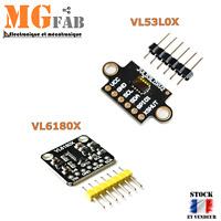 Module VL53L0X VL6180X I2C mesure distance laser Time of Flight TOF|Arduino IIC