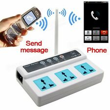 Cellphone Phone GSM Remote Control 3 Sockets Smart Socket Power Switch