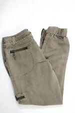 New Marrakech Beige Belted Zippered Leg Cargo Pants Size 26