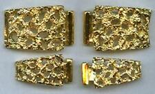 2 Different Vintage His & Hers New Vintage US Made 24KT. Gold Overlay Watch Tips
