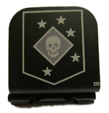 Marine Raider Patch Laser Etched Aluminum Hat Clip Brim-it