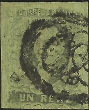 J) 1861 Mexico, Hidalgo, Un Real, Diagonal District, San Luis Potosi, Oval Cance