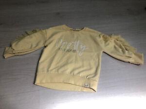 River Island Lemon Pretty Awesome Frilly Sleeve Junper / Sweatshirt - 3-4
