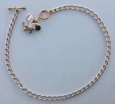 """custom anklet w/ shiny butterfly pendant Gold aluminum chain Nickel Free 10"""" or"""