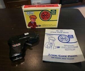 "Vintage Louis Marx ""Click"" Pistol NIB w/ Original Certificate - Rare"