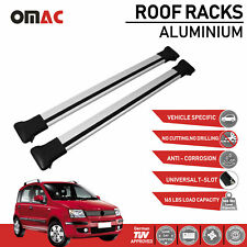 Roof Rack Cross Bars Luggage Carrier Silver Set for Fiat Panda 2003-2012