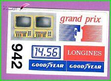 Ancien Autocollant divers rand prix Longines Goodyear pneu voiture TV