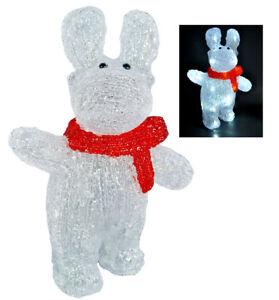 30 cm Acryl Rentier LED Timer Licht Batterie Weihnachten Winterdeko Leuchttier