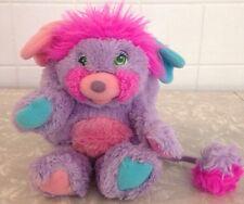 1985 Popples Pretty Bit Purple Pink Plush Mattel Vintage 80s Stuffed Animal Toy