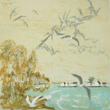 Pierre Eugène CLAIRIN  Lithographie Originale N° 69/120 MOUETTES paysage Marin