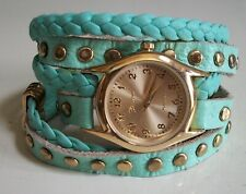 Women's Mint Green/Gold Finish Wrap Around Fashion Dressy/Casual Watch