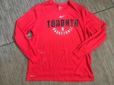 Nike Adult Mens 2XL XXL NBA Toronto Raptors Tee T Shirt Long Sleeve Red Dri Fit
