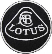 Lotus Logo Black & White Badge Embroidered Patch Sew / Iron-on 9cm