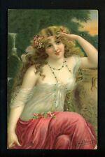 Women postcard Artist Signed Vernon Raphael Tuck Series 2812 Vintage
