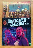 BUTCHER QUEEN #1 Ben Sawyer Main Cover A 1st Print Red 5 Comics 2019 NM