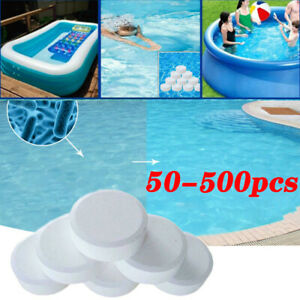 50~500 Chlorine Tablets Multifunction Instant Disinfection For Swimming Pool Tub