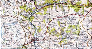 Cornwall Lostwithiel Liskeard 1946 part map/linen Braddock Duloe Bodmin St-Scawn