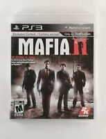 Mafia II (Sony PlayStation 3, 2010) Very Good Condition, Complete, CIB, *TESTED*