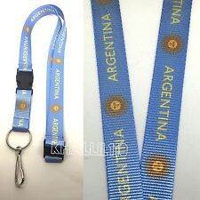 Argentina Clip On Keychain Lanyard