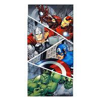 "Marvel Heroes Avengers Iron Man Hulk Thor Beach Towel Pool Bath Cotton 28"" X 58"""