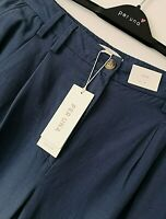 LADIES M&S PER UNA 14 OR 18 SOFT LINEN LYOCELL BLEND WIDE LEG TROUSERS FREE POST