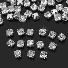 zum aufnähen Strass klar Kristall Glitzersteine A Grad Glas - 3.25mm - 10mm